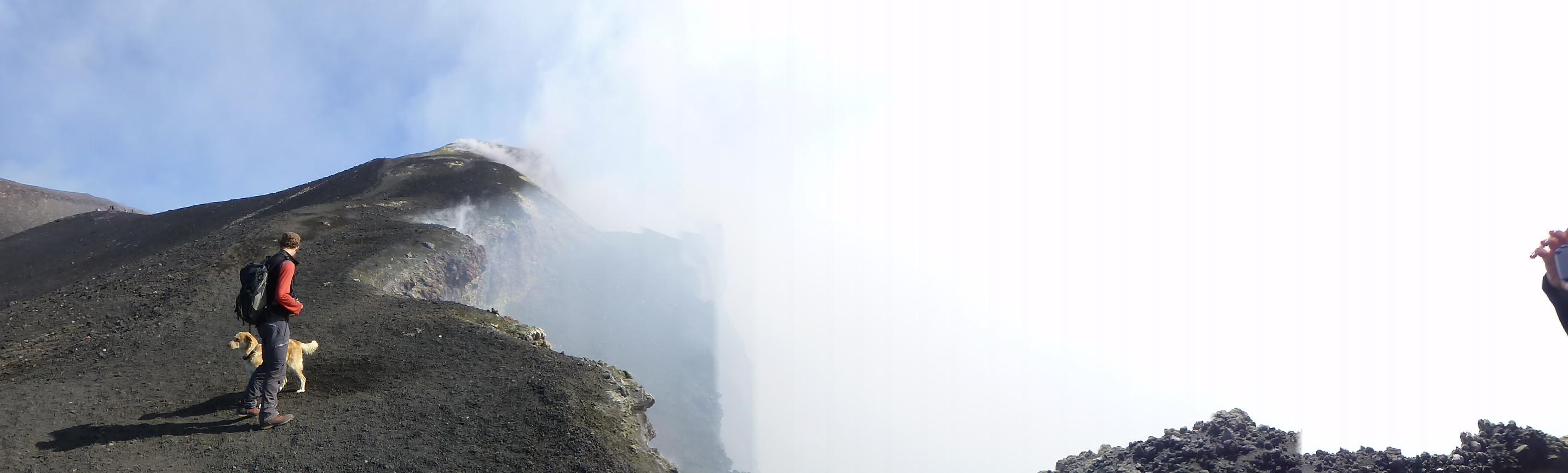 Der Kraterrand des Ätna